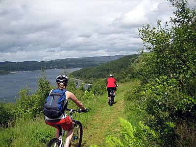 cycle trail with views of loch craignish